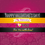 Color background with valentine heart and wishes t Stock Photo