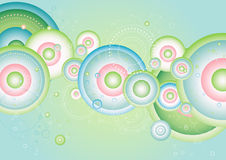 Color background,vector. Color background with many circles,vector illustration Stock Photo