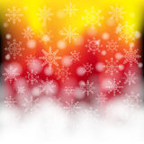 Color background. With white snowflakes Royalty Free Illustration