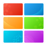 Color backgrounds. Vector colored cards - abstract backgrounds Royalty Free Stock Image