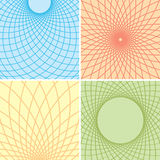 color vector backgrounds with curved grids - set Stock Photos
