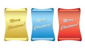 Color vector backgrounds - papyrus - merry christmas Royalty Free Stock Image