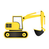 Color backhoe loader icon Stock Photography