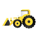 Color backhoe loader icon Stock Images