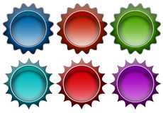 Color badges Stock Photography
