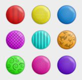 Color badges collection Royalty Free Stock Photography