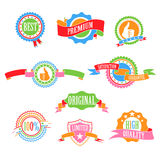 Color badges and ribbons Stock Images