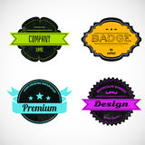 Color badges Stock Images