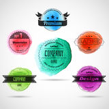 Color badges Royalty Free Stock Photo