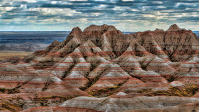 Color in the Badlands Stock Image