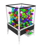 Color Ball Box Machine. Box machine full of colored balls, over white, isolated Royalty Free Stock Image