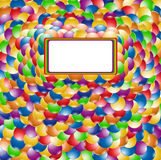 Color ball rainbow background Stock Image