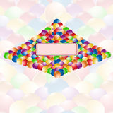 Color ball rainbow  banner background Royalty Free Stock Images