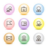 Color ball web icons, set 1 Stock Photo