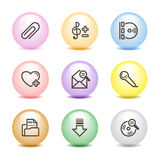Color ball web icons, set 11 Stock Photos