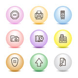 Color ball web icons, set 4 Royalty Free Stock Photography