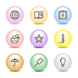 Color ball web icons, set 9 Stock Photos