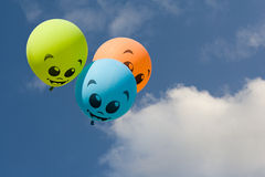 Color ballons on blue sky