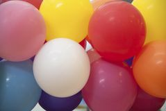 Color Balloon 01. Bunch of Colorful Balloon for Decoration royalty free stock photography