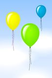Color balloons. Background with some color balloons in the air Royalty Free Stock Photography