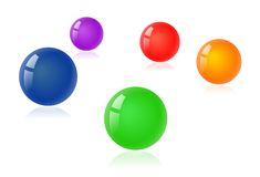 Color balloons. Background with some color balloons in the air Stock Photos