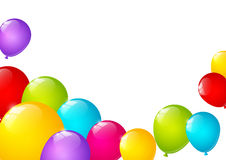Color balloons background with copy space Stock Images