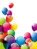 Color balloons background royalty free illustration