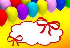 Color balloons background Royalty Free Stock Photo