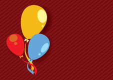 Color Balloons Background Stock Image