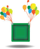 Color balloons background. Vector illustration Stock Image