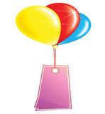 Color balloons with banner. Illustration Royalty Free Stock Photography
