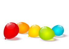 Color balloons border Stock Images