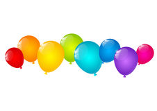 Color balloons border for Your design Royalty Free Stock Image