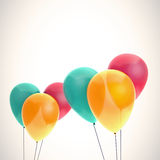 Color balloons card template Royalty Free Stock Image