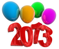 2013 on COLOR balloons (clipping path included) Stock Image