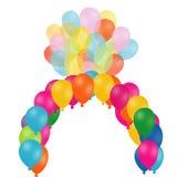 Color Balloons composition Stock Photos