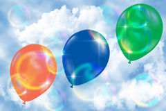 Color balloons. Stock Photos