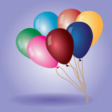 Color balloons with helium Stock Photography