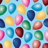 Color balloons with helium pattern  Royalty Free Stock Photography