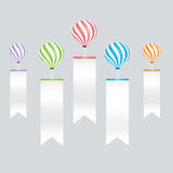 Color balloons and infographic on white labels background Stock Photo