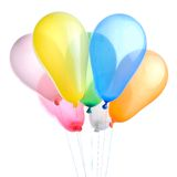 Color balloons isolated. On white Stock Photos