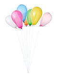 Color balloons isolated Royalty Free Stock Photography