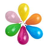 Color balloons isolated. On white Royalty Free Stock Photography