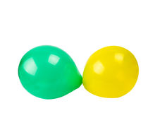 Color balloons isolated Stock Image