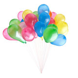 Color balloons isolated on white Royalty Free Stock Images