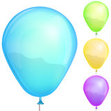Color balloons set. Isolated on white background illustration Royalty Free Stock Images