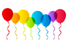 Color balloons silhouettes Royalty Free Stock Image