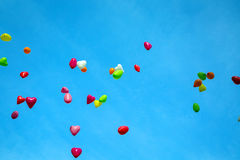 Color Balloons in the Sky Royalty Free Stock Image