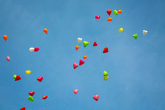 Color Balloons in the Sky Stock Photos