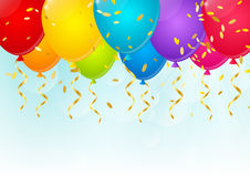 Color balloons. On sunny background Royalty Free Stock Photography